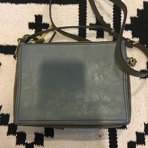 Fossil Bags - NWT Fossil steel blue campbell crossbody
